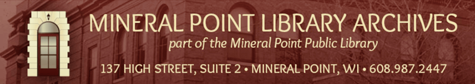 Mineral Point Library Archives